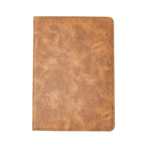 iPad Mini 1 / 2 / 3 Faux Leather Flip Cover Case - Brown / Grey