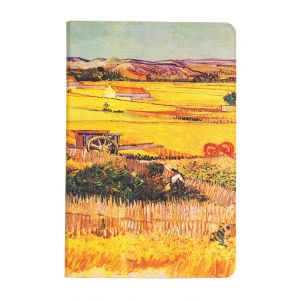iPad Mini 4 Oil Painting Countryside Scene Flip Over Cover Case - Yellow