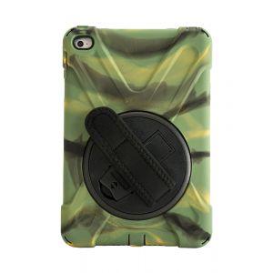 iPad Mini 4 Heavy Duty Protective case / swivel stand with hand strap - Camo