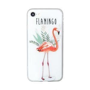 iPhone 8 Flamingo Floral Opaque TPU Case - Multicoloured