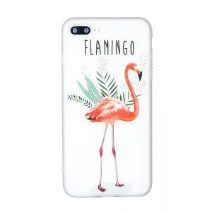 iPhone 8 Plus Flamingo Opaque TPU Case - Multicoloured