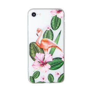 iPhone 8 Pretty Flamingo Floral Opaque TPU Case - Multicoloured