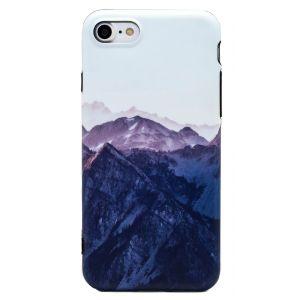 iPhone 7 TPU Peaceful Snowy Mountain Range Case - Multicoloured