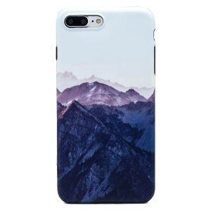 iPhone 7 Plus TPU Peaceful Snowy Mountain Range Case - Multicoloured
