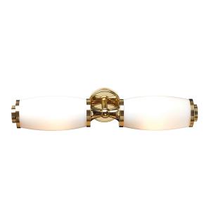Polished Brass Bathroom  Twin Wall Light - 2 x 3.5W LED G9