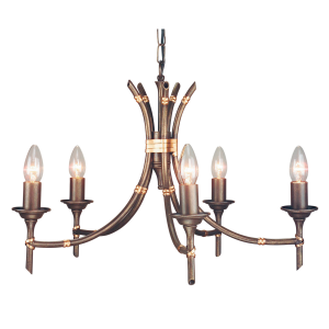 Bronze Patina 5lt Chandelier - 5 x 60W E14