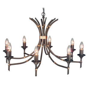 Bronze Patina 8lt Chandelier - 8 x 60W E14