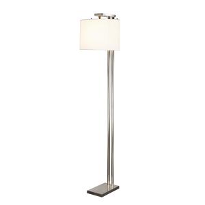 Brushed Nickel Floor Lamp - 1 x 60W E27