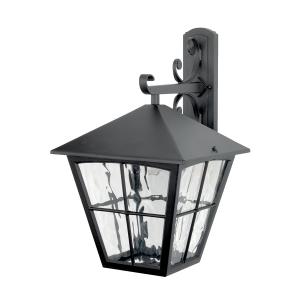 Black Wall Down Lantern - 1 x 100W E27