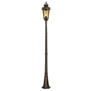 Weathered Bronze Lamp Post Large - 1 x 150W E27