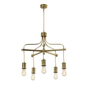 Aged Brass 5lt Chandelier - 5 x 60W E27