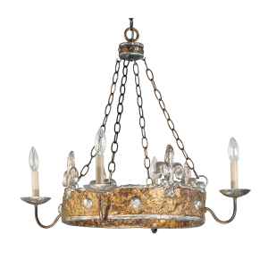Gold And Silver 4lt Chandelier - 4 x 60W E14
