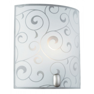 Contemporary Glass Flush Wall Light with Floral Decor