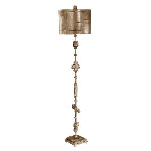 Aged Silver Silver Floor Lamp - 1 x 100W E27