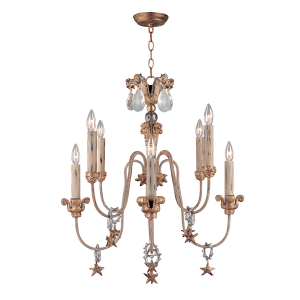 Gold And Silver 8lt Chandelier - 8 x 60W E14