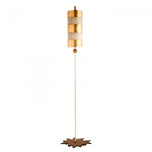 Gold Leaf Floor Lamp Gold - 1 x 100W E27