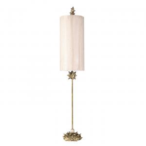 Silver Leaf Floor Lamp Silver - 1 x 100W E27