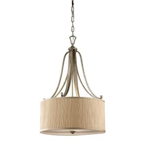 Silver Sand Pendant Light - 3 x 100W E27