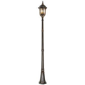 Walnut Lamp Post - 4 x 60W E14