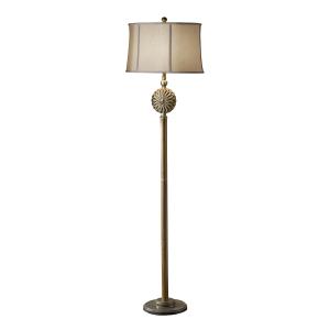 Firenze Gold / Silver Leaf Patina 1lt Floor Lamp - 1 x 60W E27
