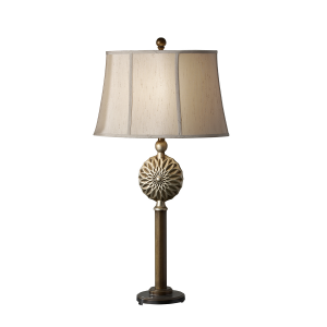 Firenze Gold / Silver Leaf Patina 1lt Table Lamp - 1 x 60W E27