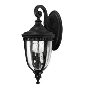 Black 3lt Medium Wall Lantern - 3 x 60W E14