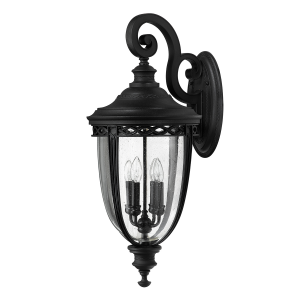 Black 4lt X Large Wall Lantern - 4 x 60W E14