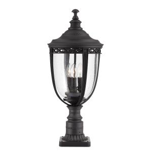 Black 3lt Large Pedestal - 3 x 60W E14