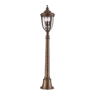 British Bronze 3lt Medium Pillar Lantern - 3 x 60W E14