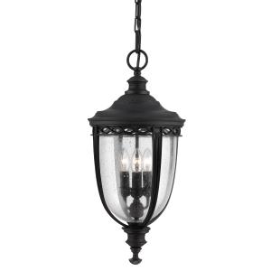 Black 3lt Large Chain Lantern - 3 x 60W E14