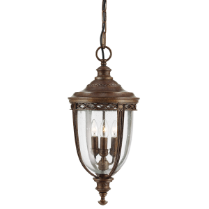 British Bronze 3lt Large Chain Lantern - 3 x 60W E14