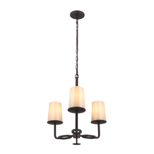 Oil Rubbed Bronze 3lt Chandelier - 3 x 75W E27