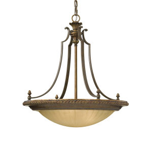Firenze Gold/British Bronze 4lt Uplight - 4 x 60W E27