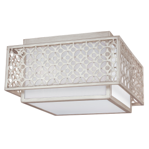 Sunrise Silver 2lt Flush Mount - 2 x 60W E27