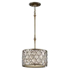 Burnished Silver Pendant Ceiling Light - 1 x 60W E27