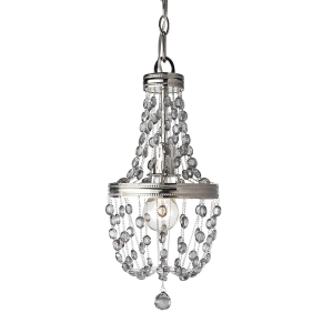 Polished Nickel 1lt Mini Pendant - 1 x 60W E27
