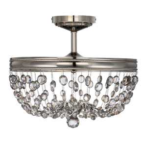 Polished Nickel 3lt Semi-Flush - 3 x 60W E14