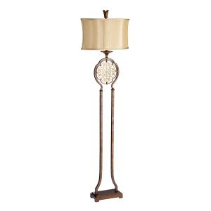British Bronze/Oxidized Bronze 1lt Floor Lamp - 1 x 60W E27